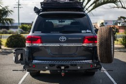Toyota Land Cruiser 200s Year 2008-Current- MCC022-02PK2 Rear Carrier Bar with Single Wheel/Single Jerry Can Holder