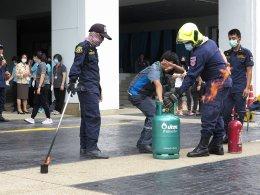 การฝึกอบรมเชิงปฏิบัติการ การป้องกัน ควบคุมและปฏิบัติ เมื่อเกิดอัคคีภัย