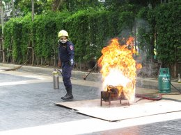 การฝึกอบรมเชิงปฏิบัติการป้องกัน เมื่อเกิดอัคคีภัย