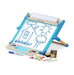 ของเล่นเด็ก Melissa & Doug ชุดกระดานวาดเขียนวางบนโต๊ะใช้ได้ 2 ด้าน