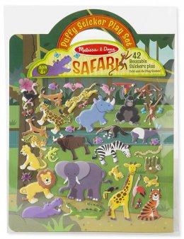 Melissa and Doug -  Puffy Reusable Sticker Set - Safari สติ๊กเกอร์ รูปสัตว์