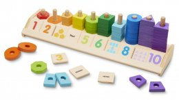 Counting Shape Stacker ชุดเรียนรู้การนับ จำนวน ตัวเลข คำศัพท์ตัวเลขภาษาอังกฤษ