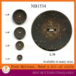 Coconut Imitation Buttons