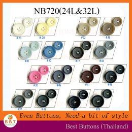 กระดุมสูท เนื้อด้าน NB720