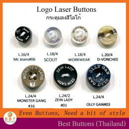 Laser color button