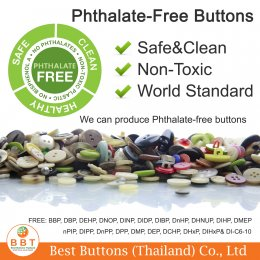 Phthalate-Free Buttons