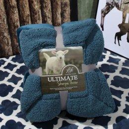 Ultimate Sherpa Throw ผ้าห่มขนแกะ น้ำหนักเบา สีน้ำเงิน