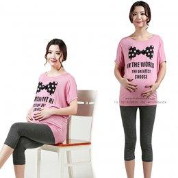 กางเกงคนท้อง เสื้อผ้าคนท้อง เลคกิ้งคนท้องขา 4 ส่วน