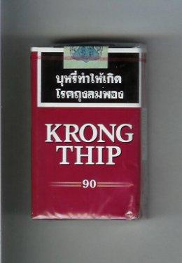 บุหรี่กรองทิพย์ กองทิพย์ krong thip 90   www.buriasia.com