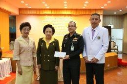 ประธานมูลนิธิสงเคราะห์ครอบครัวทหารผ่านศึก มอบเงินบริจาค เพื่อสนับสนุนโครงการศูนย์ผ่าตัดกระดูกสันหลังแบบแผลเล็กของโรงพยาบาลทหารผ่านศึก