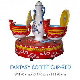 Fantasy Coffee Cup-Red
