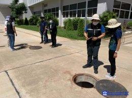 เข้ารับการตรวจบ่อบำบัดน้ำเสีย สำนักงานสิ่งแวดล้อม ภาค 10