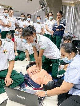 อบรมปฏิบัติการช่วยฟื้นคืนชีพขั้นพื้นฐาน CPR ด้วยเครื่องมือจำลองเสมือนจริง โดย อ.โรจนินทร์ พิริยฉัตรชัย และ อ.ดวงกมล ภูมิพันธุ์