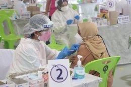 """บริการฉีดวัคซีน """"ซิโนฟาร์ม"""" รอบสอง จำนวน 3,500 คน"""