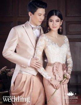 60ชุดไทยตะการตา!สวยสะพรั่ง!งานแต่งงานพิธีเช้า