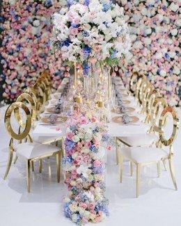 60 Idears ดอกไม้สดวางโต๊ะอาหาร