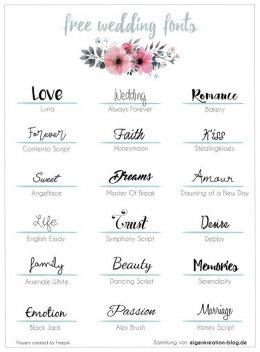 Fonts Free Wedding