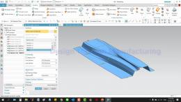 แบบฝึกหัด 12 : NX Free-Form Modeling : Through Curve (ep.2)