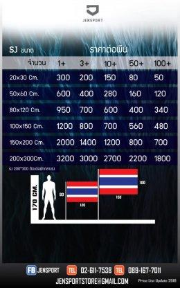 ราคา ธง 2021