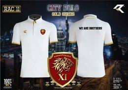เสื้อกีฬาคอปก Real united RAC011 สีขาว ตำรวจ.