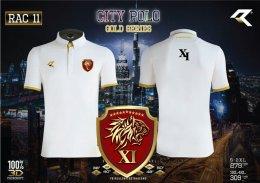 เสื้อกีฬาคอปก คอจีน Real united RAC011 สีขาว ตำรวจ