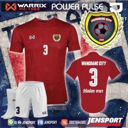 เสื้อบอล Warrix WA1569 สีแดงทีม วังแดง
