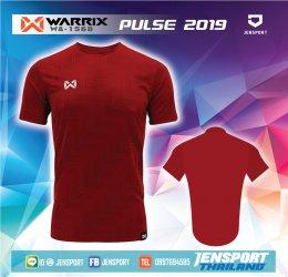 เสื้อฟุตบอล WARRIX รุ่น WA-1568 สีแดง เฟล็กจัดเต็ม
