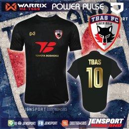 TBAS FC - TOYOTA BOSHOKU เสื้อบอล Warrix WA-1569 สีดำ