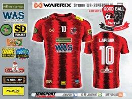เสื้อ Warrix WA204 Strike สีแดง ทีม GOODBALL UNITED