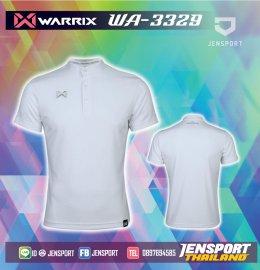 เสื้อฟุตบอลคอปก Warrix WA-3329 ขาว