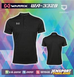 เสื้อฟุตบอลคอปก Warrix WA-3329 ดำ