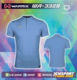 เสื้อฟุตบอลคอปก Warrix WA-3329 ฟ้า