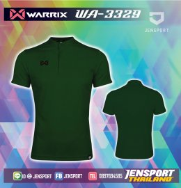 เสื้อฟุตบอลคอปก Warrix WA-3329 เขียว