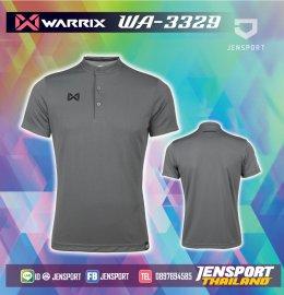 เสื้อฟุตบอลคอปก Warrix WA-3329 เทา