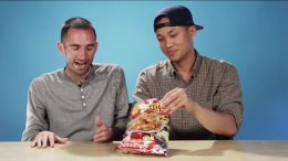 Americans try Thai snack
