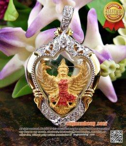 องค์พญาครุฑ (องค์นำฤกษ์) เนื้อทองคำบริสุทธิ์ 99.99% รุ่นมหาเศรษฐี พิมพ์เล็ก วัดโพธิ์ทอง สวยหนึ่งเดียวค่ะ