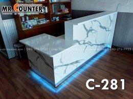 เคาน์เตอร์คลินิก ลายหินอ่อนติดไฟ LED