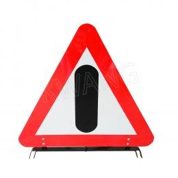 KYOWA  ป้ายสามเหลี่ยมสัญญาณเตือนภัยสิ่งกีดขวาง