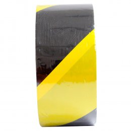 TIGER เทปกั้นเขต ขนาด 70 mm. ยาว 500 m. สีเหลือง/ดำ