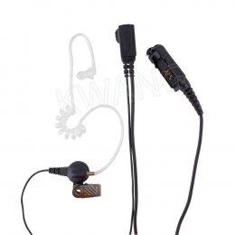 KYOWA ไมค์พร้อมหูฟัง FBI ใช้สำหรับวิทยุสื่อสาร P6600 กันน้ำ สีดำ