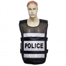 KYOWA เสื้อกั๊กตำรวจ 2 แถบ สีดำ