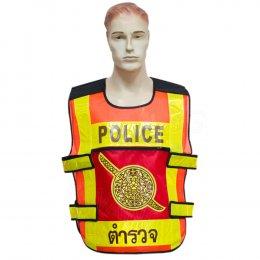 KYOWA เสื้อกั๊กตำรวจ สีส้ม