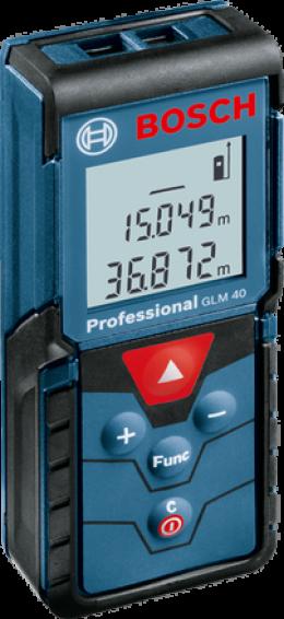 เครื่องวัดระยะด้วยเลเซอร์ บ๊อช GLM 40 Professional