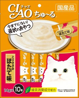CIAO Cat Snack Churu Chicken Fillet with Scallop Flavor 14 g. (10 pcs./Pack)