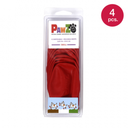 PAWZ Dog Boots S Red (4 pcs.)