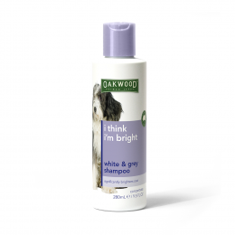 OAKWOOD Pet Shampoo for White & Grey Coat (280 ml)