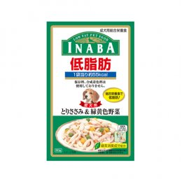 INABA Dog Food Pouch Low Fat Chicken Fillet & Vegetable (80 g.)