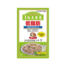 INABA Dog Food Pouch Low Fat Chicken Fiilet Tuna & Vegetable (80 g.)