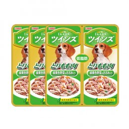 INABA Dog Food Pouch Chicken Thigh with Vegetable & Chicken Fillet (40 g. x 2) x 3 Packs