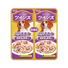 INABA Dog Food Pouch Chicken Fillet with Chicken Gristle & Vegetable (40 g. x 2)